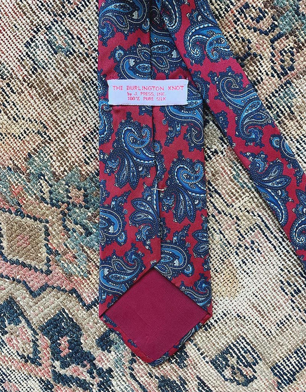 VINTAGE J. PRESS TIE - BURGUNDY - J. PRESS