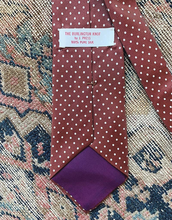 VINTAGE J. PRESS TIE - BROWN - J. PRESS