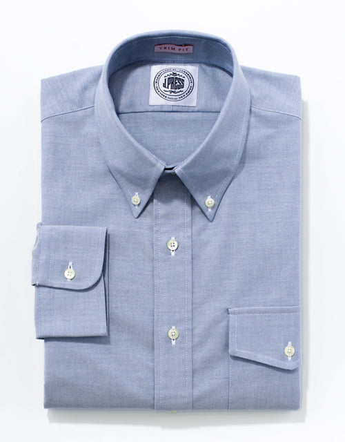 BLUE OXFORD W/ FLAP - TRIM FIT