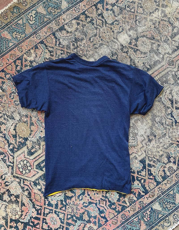 VINTAGE T-SHIRT - NAVY/GOLD