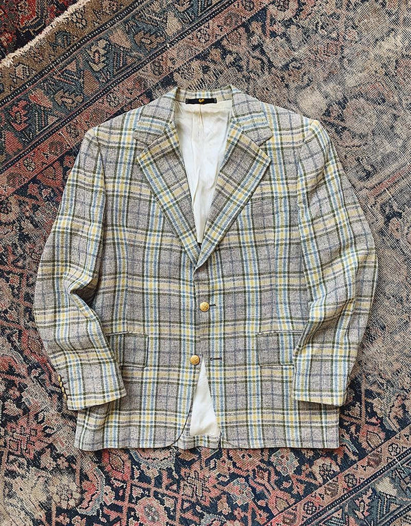 VINTAGE J. PRESS TWEED SPORT COAT - BROWN - J. PRESS