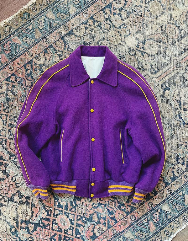VINTAGE VARSITY JACKET - PURPLE - J. PRESS