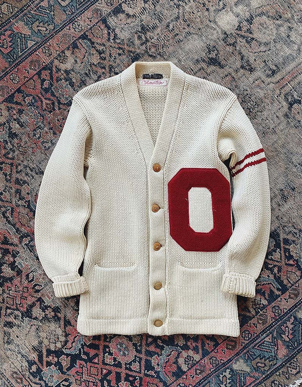 VINTAGE VARSITY SWEATER - CREAM - J. PRESS