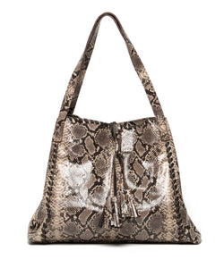 The Alexa | Brown snake print