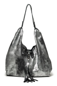 BIANCA BAG | Black Silver Washed