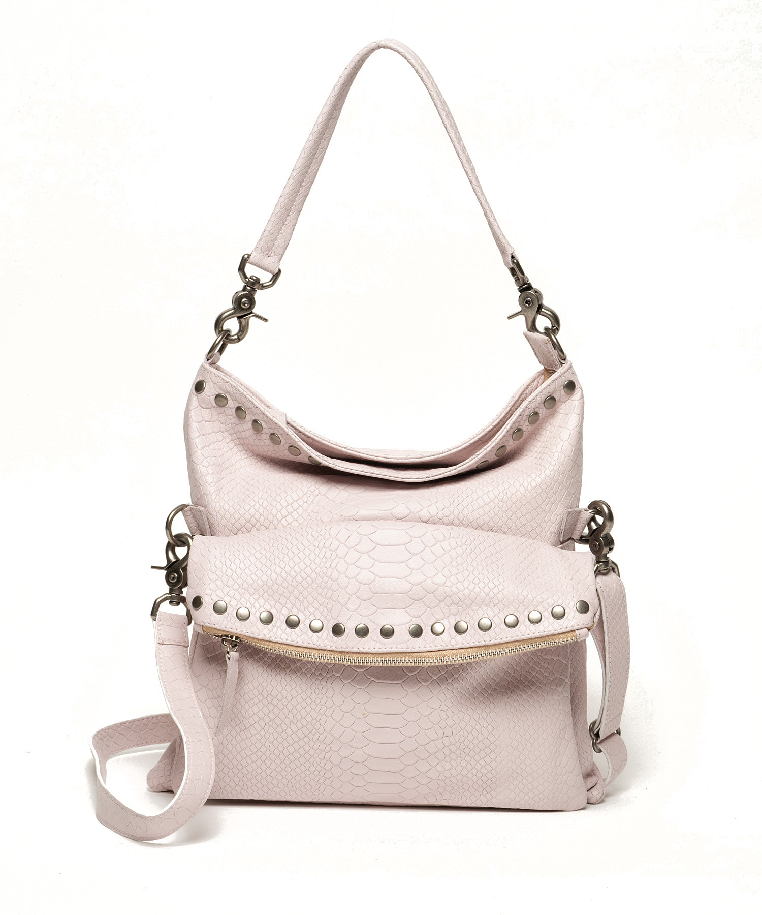 Billy | Blush snake print