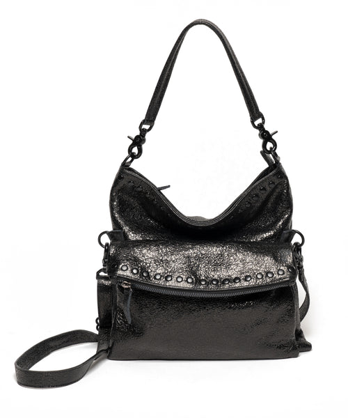 THE BILLY BAG : Black Crinckled
