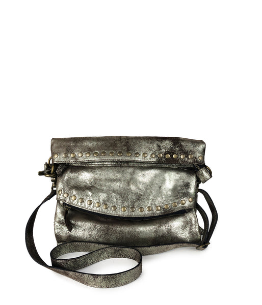 THE BILLY BAG | Distressed Metallic Brown
