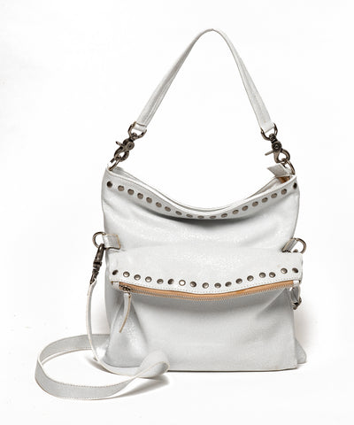 THE BILLY BAG : White Crinkled