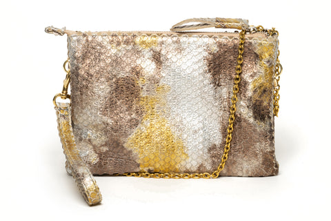 CITY Bag | Silver gold snake print