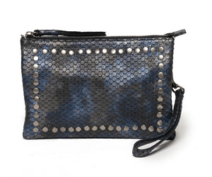 CITY BAG | Navy Snake Print