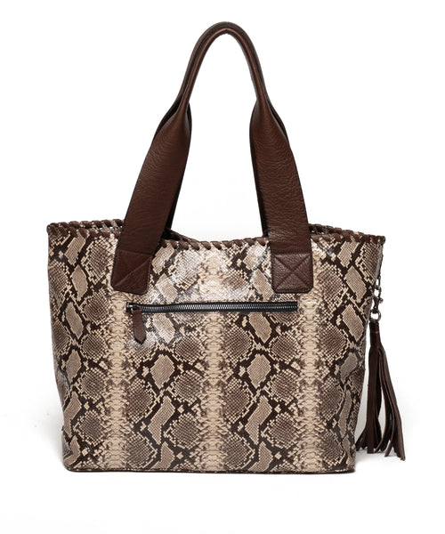 JACKIE | Brown Snake print