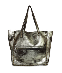 Miley Metallic Brown Distressed