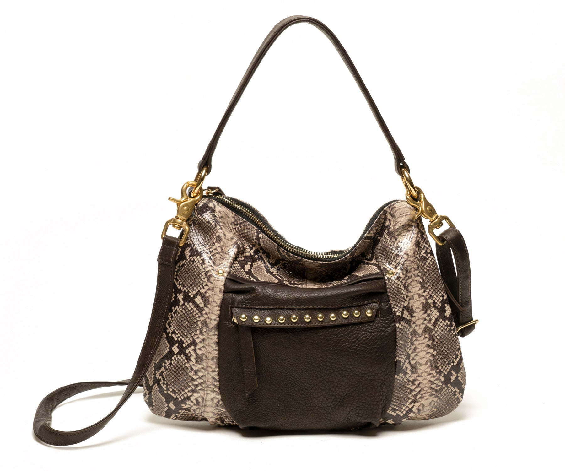 MINI JOYCE - Brown Snake Print