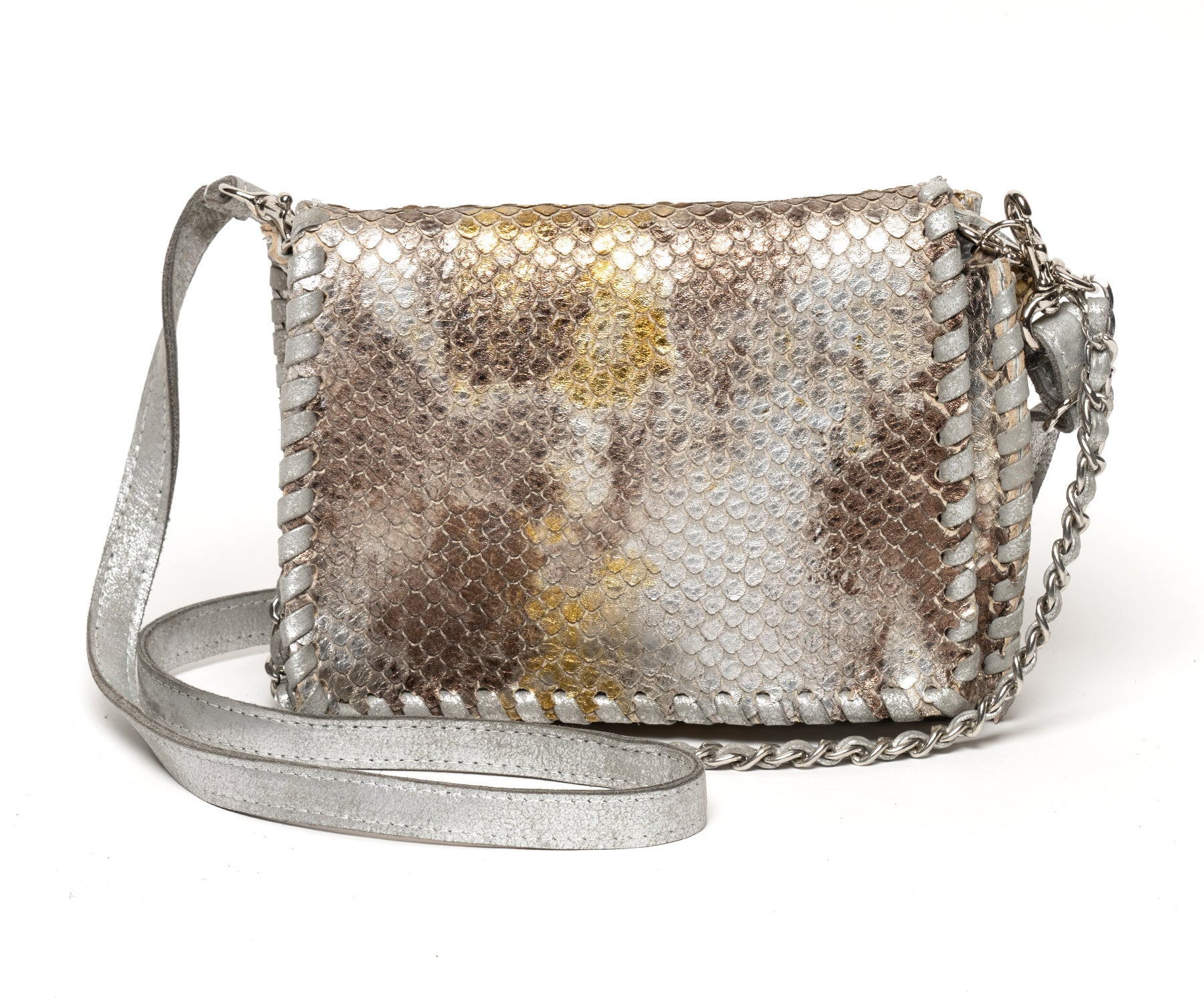 RIDER : Silver Gold Snake Print