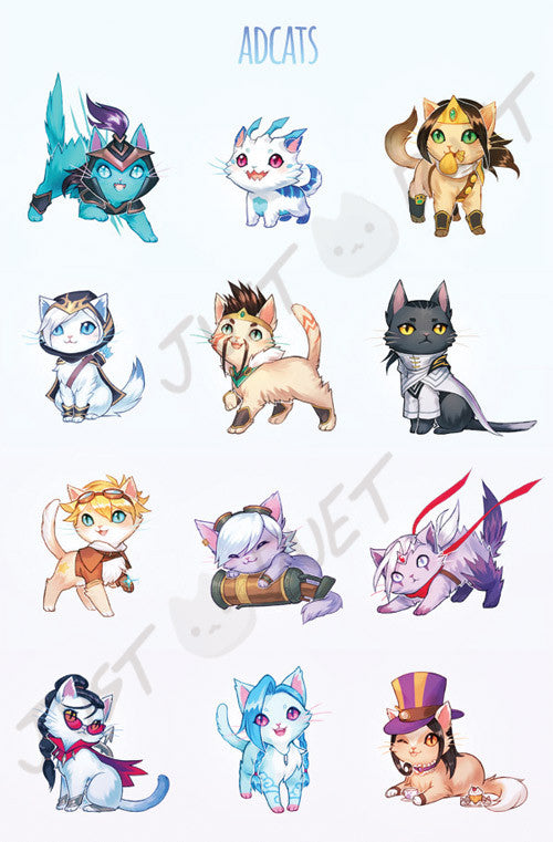 League of Cats Print Set
