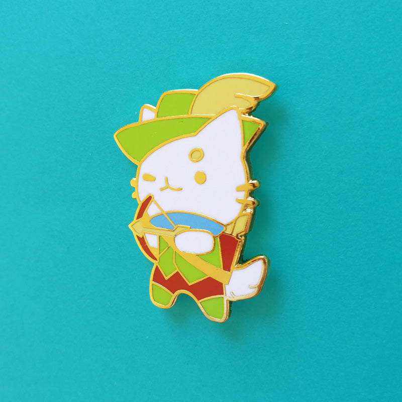 Archer Cat Pin