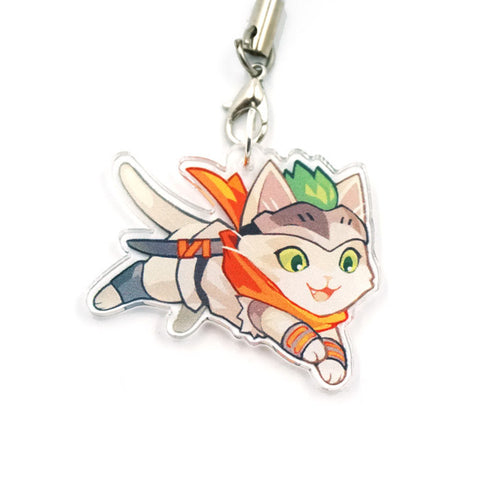 Young Genji Cat Charm
