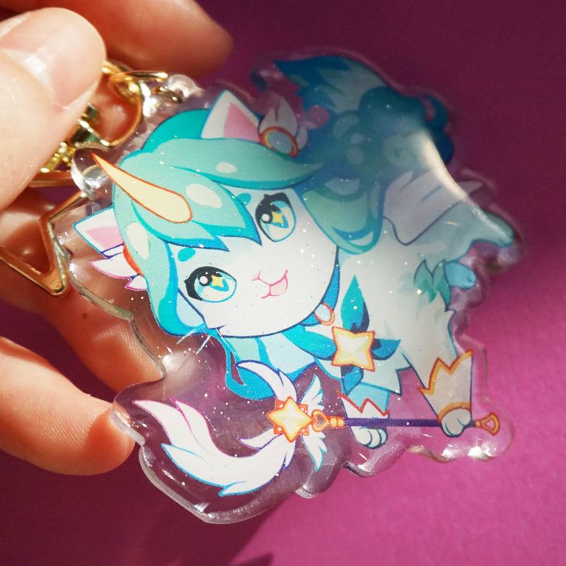 Purr Guardian Miss Fortune Keychain