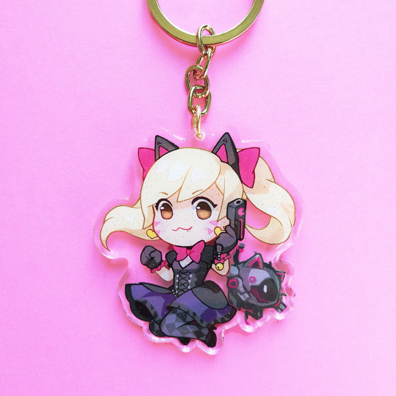 Black Cat Dva Keychain