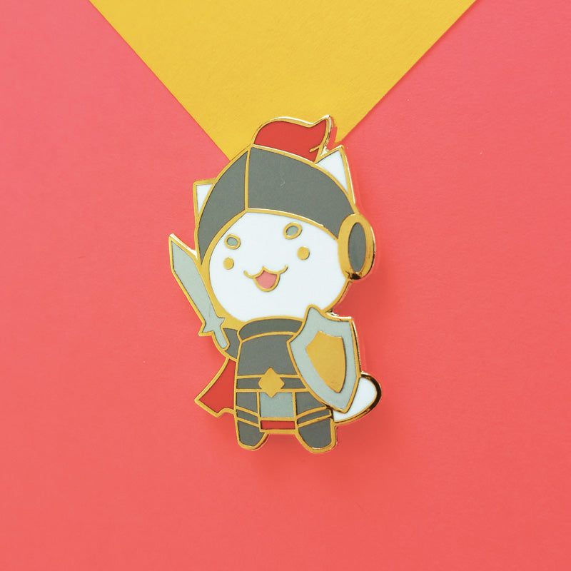 Knight Cat Pin
