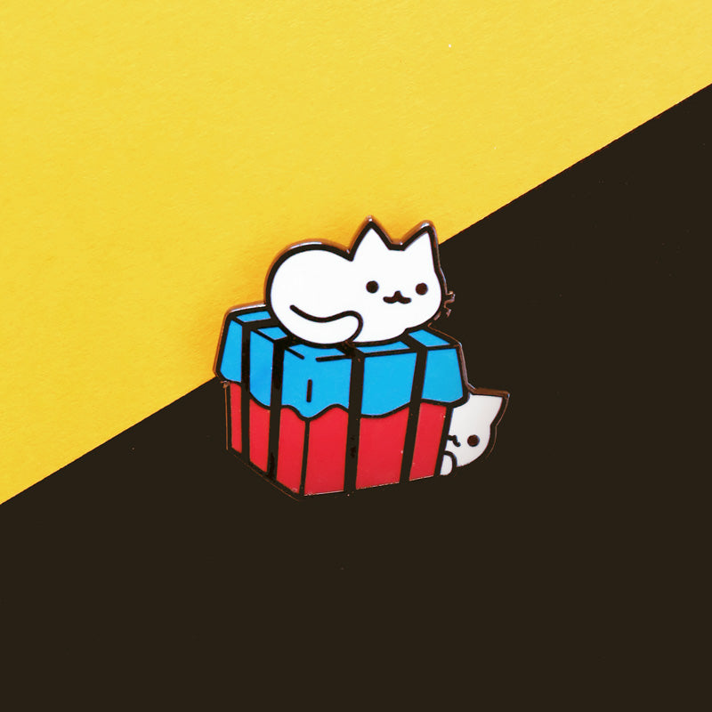Crate Cats Pin