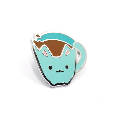 Cup Cat Pin