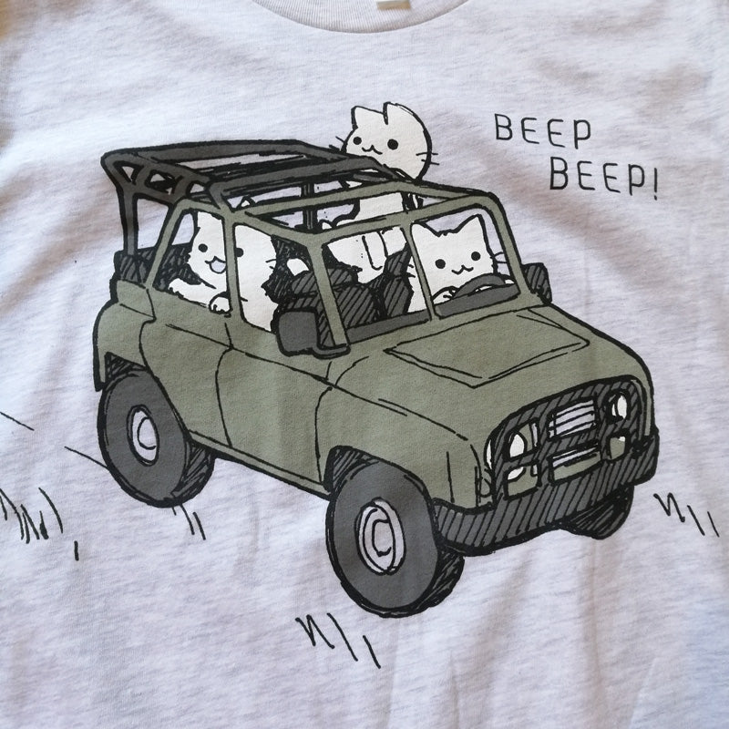 Beep Beep Cats in a Jeep Shirt
