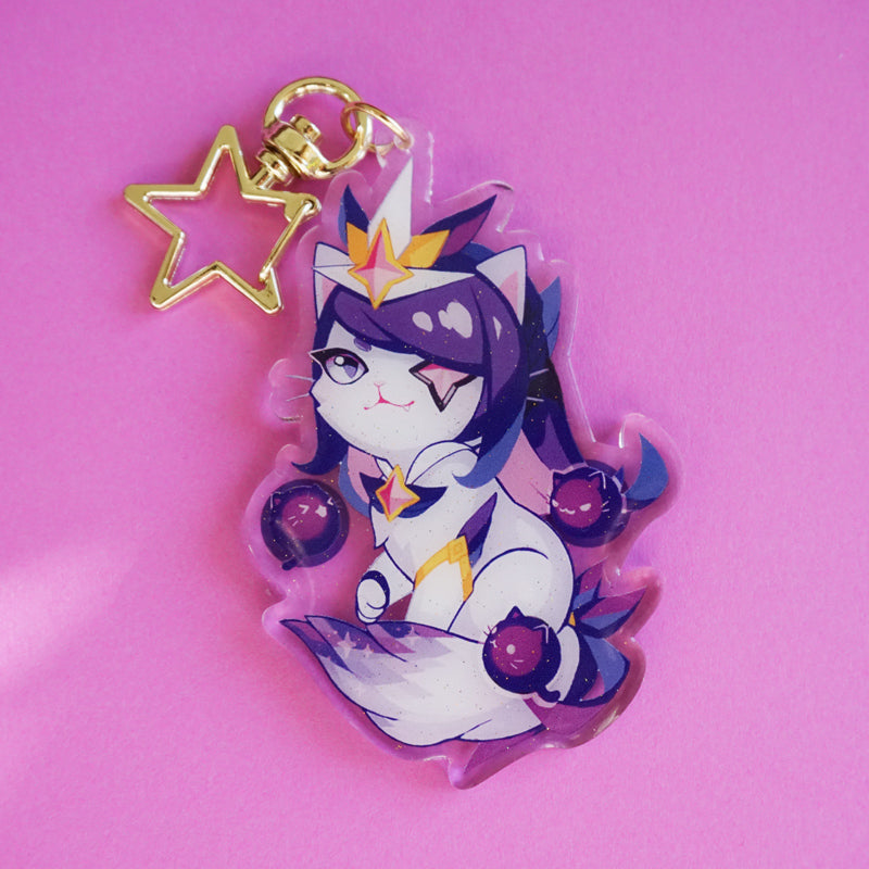 Purr Guardian Syndra Keychain