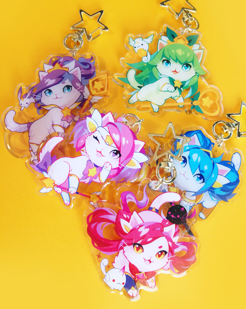 Purr Guardian Keychain Set