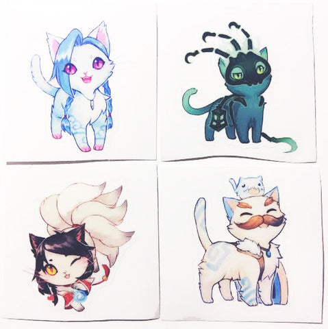 "2"" League Cat Sticker"
