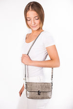 Sara Gray Leather Shoulder Bag