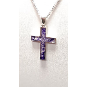 Purple Sterling Silver Cross