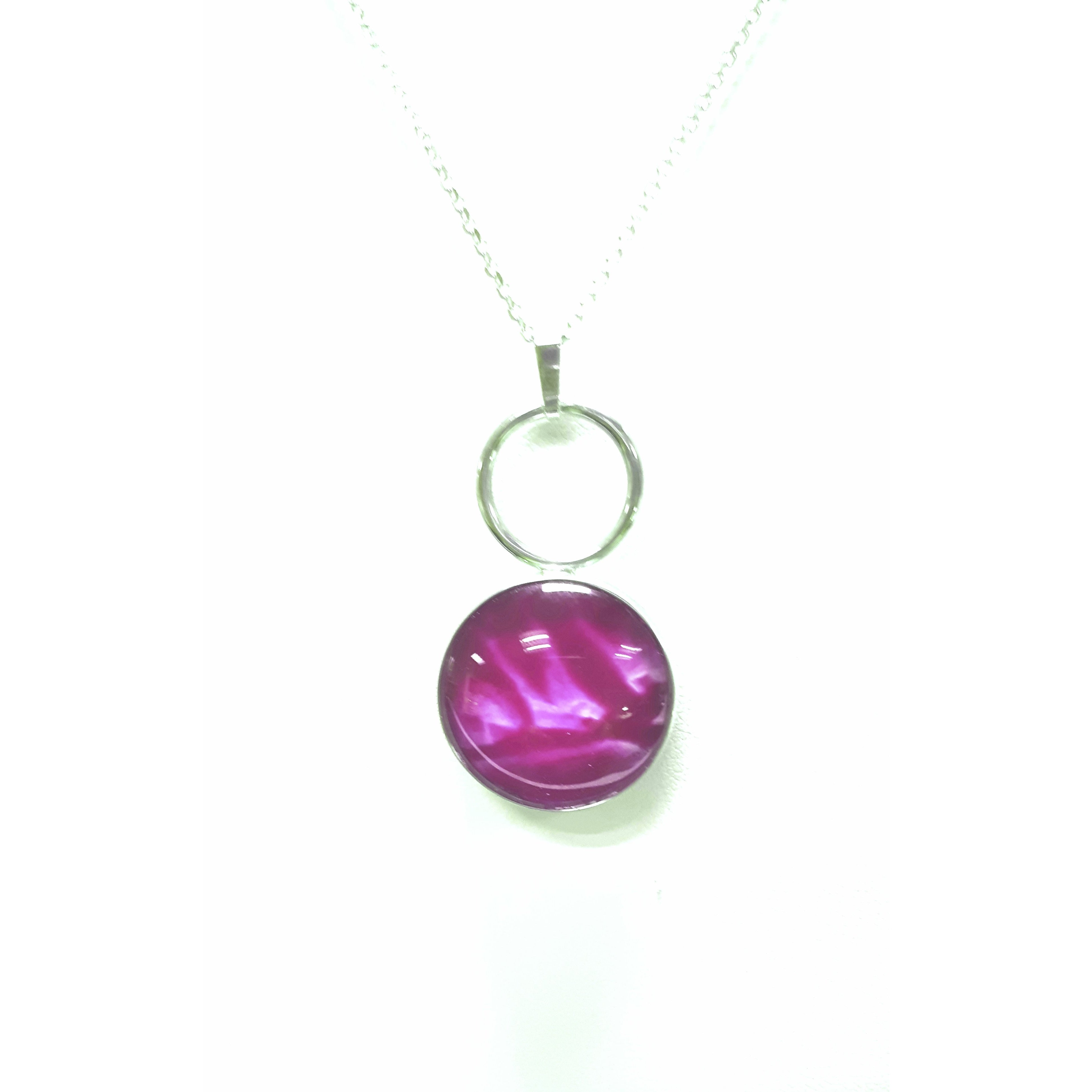 Loop 925 Sterling Silver Pendant by Val B's Wax Jewellery