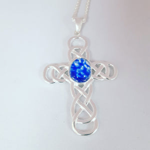 Wirework Sterling Silver Cross