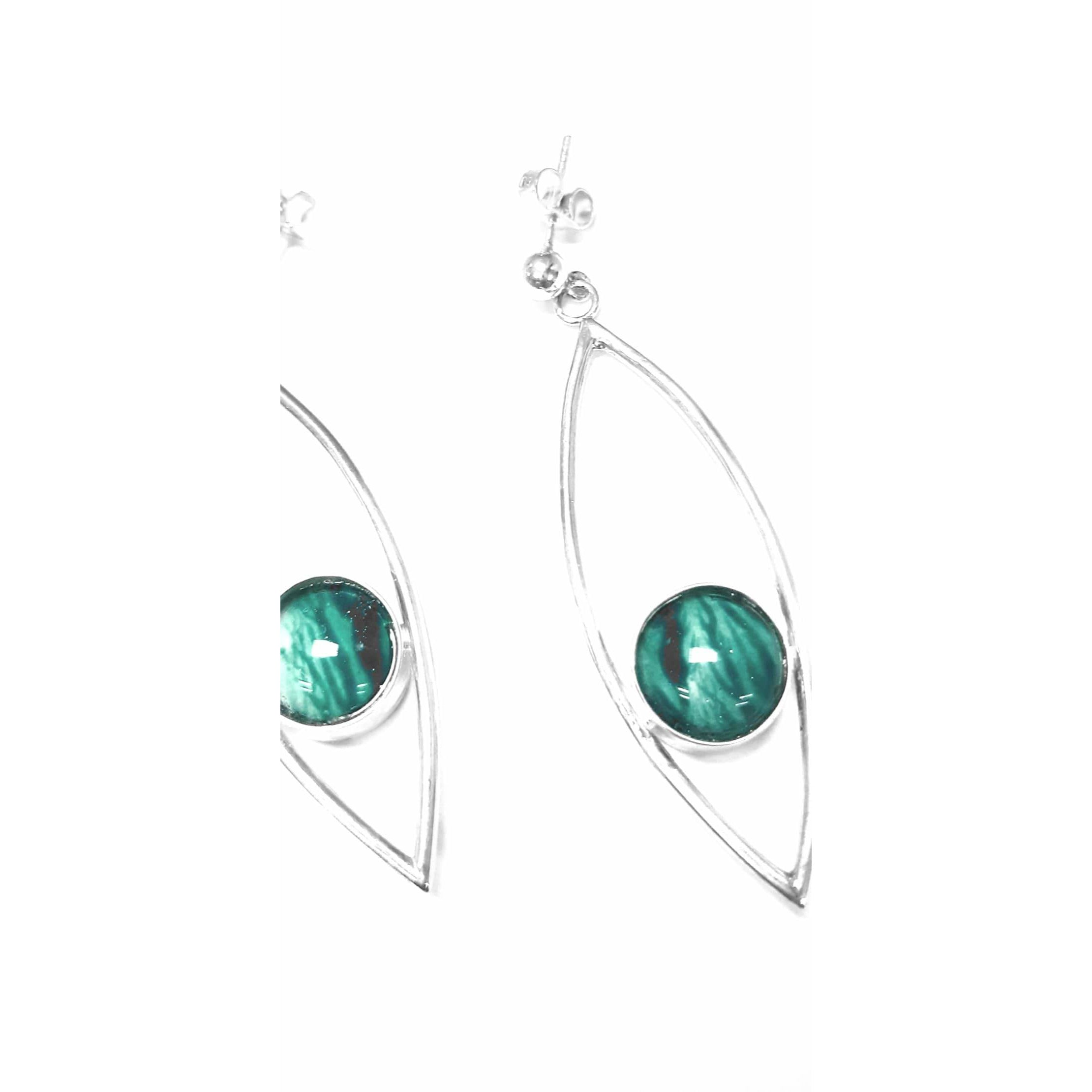 Fish Eye drop earrings