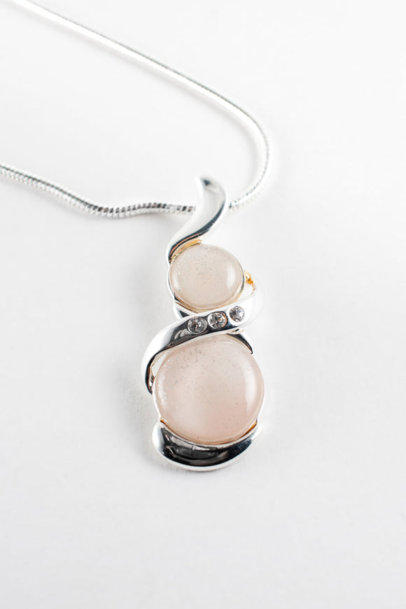 Simple yet elegant and stylish, pearly pink pendant makes the perfect addition to any collection, stunning, amazing, handpainted in bees wax, sealed in glass