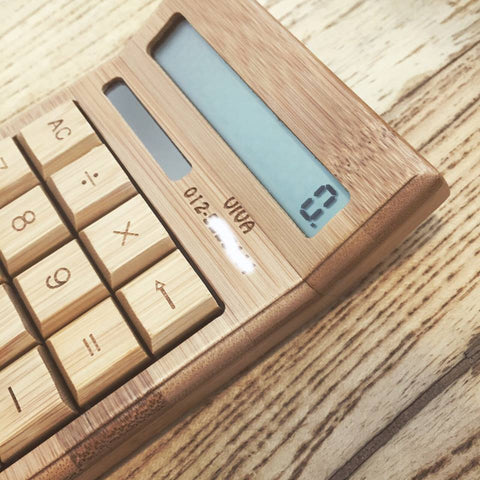Personalised Wooden Calculator with Wordings