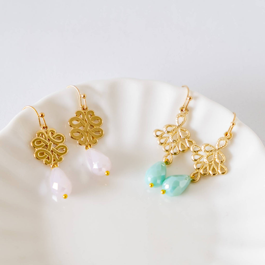 Pastel Gold Bracelet and Dual Earrings Set  (4-10 working days)