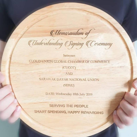 Personalized Round Chopping Board