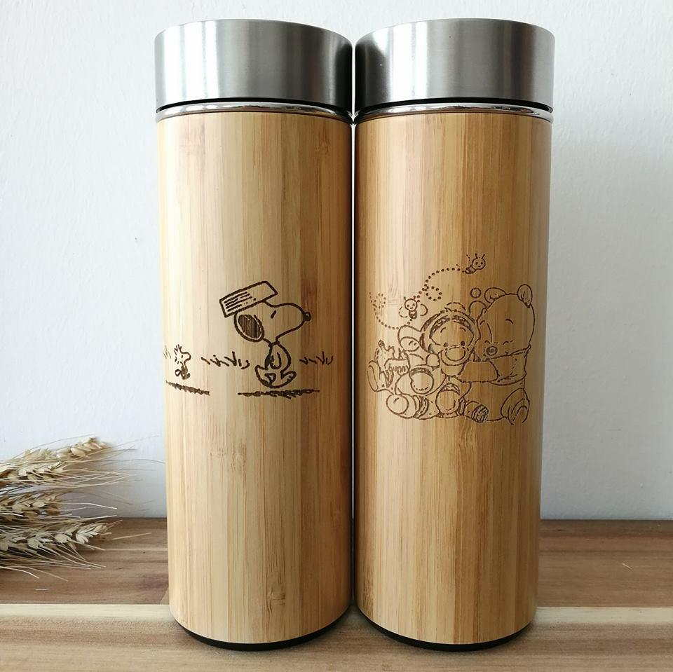 Cartoon Stainless Steel Thermal Flask with Wordings (Est. 4-6 working days)