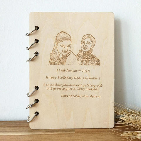 Personalised Notebook with Image & Wordings