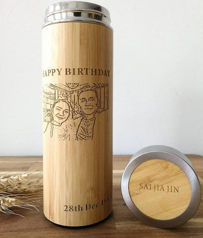 *Valentine's Day 2021* Personalised Stainless Steel Thermal Flask with Wordings & Image (Est. 6-8 working days)