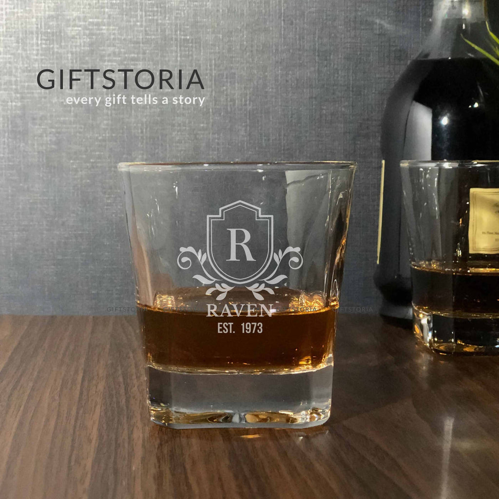 Personalized Royalty Crystal Whiskey Glass (10 oz) (10 working days)