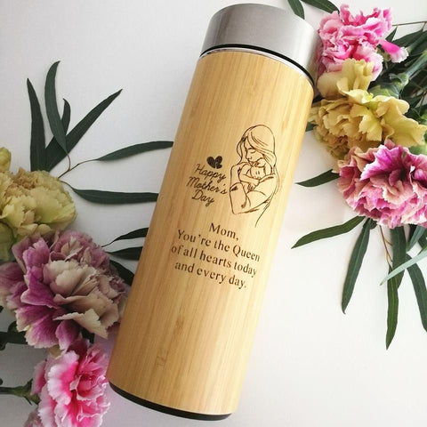 Personalised Stainless Steel Thermal Flask with Wordings & Image (Est. 4-6 working days)