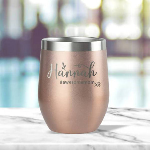 '#awesomemom' Insulated Tumbler (12oz) - Mother's Day