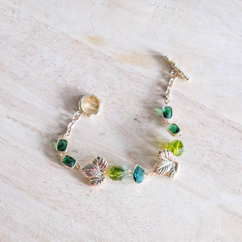 Emerald Series Handmade Gold Bracelet #2, Mother's Day 2020