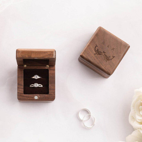 Personalized Luxury Wooden Ring Box (est. 6-8 working days)