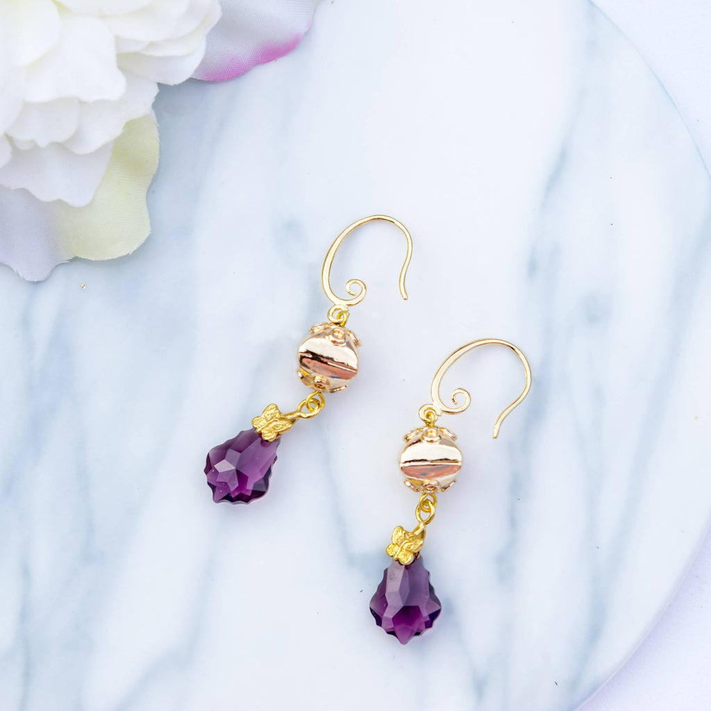 Glamour Amethyst Earring (4-10 working days)