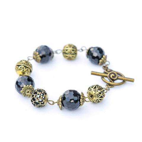 Boho Black Bracelet & Earring Set (4-10 working days)